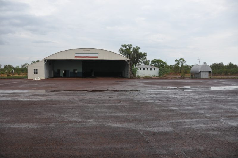 Oil Store located to the west of the Hangar facing the tarmac