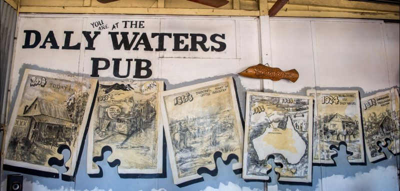 Artwork at Daly Waters Historic Pub