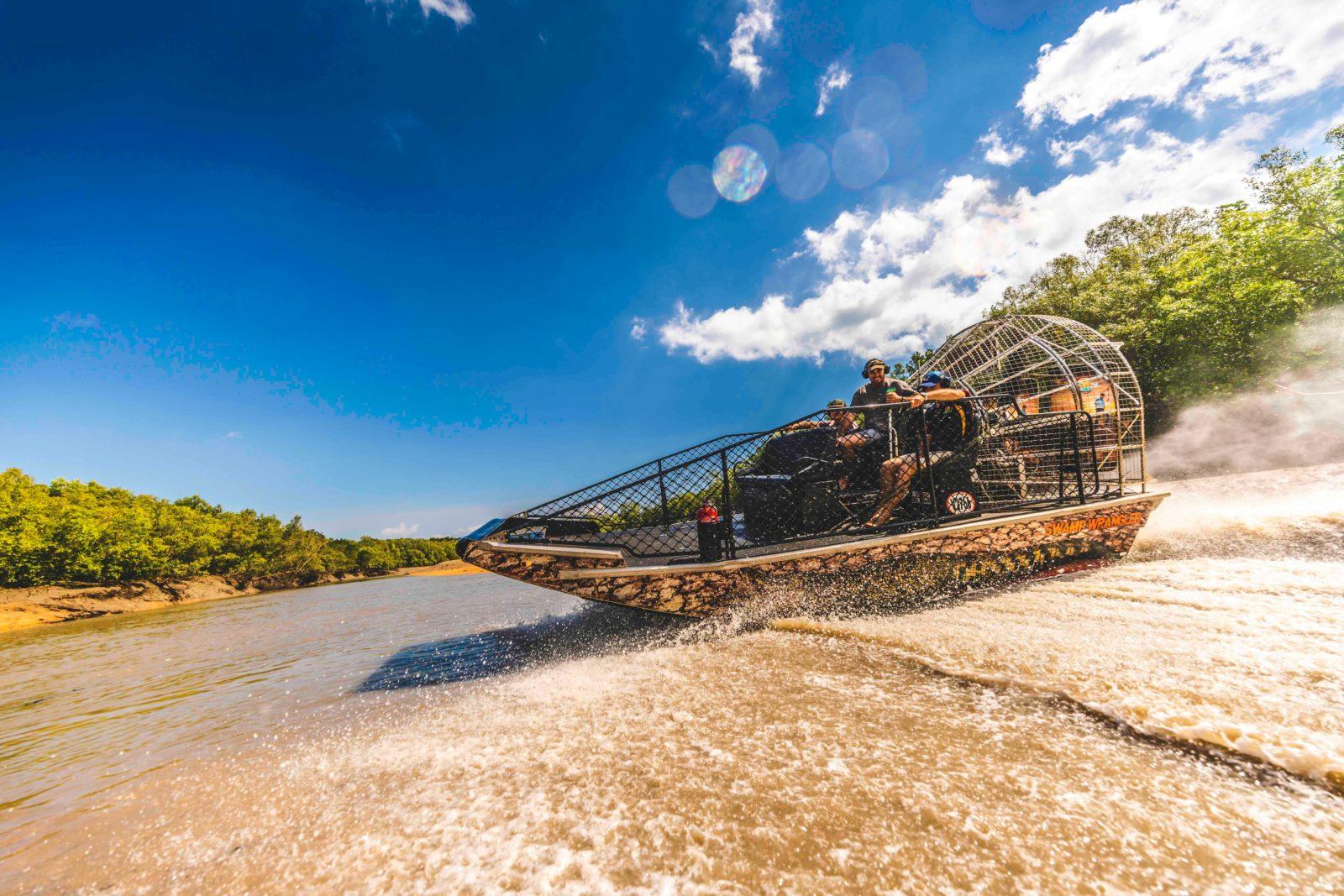 Experience the thrill of an airboat ride!