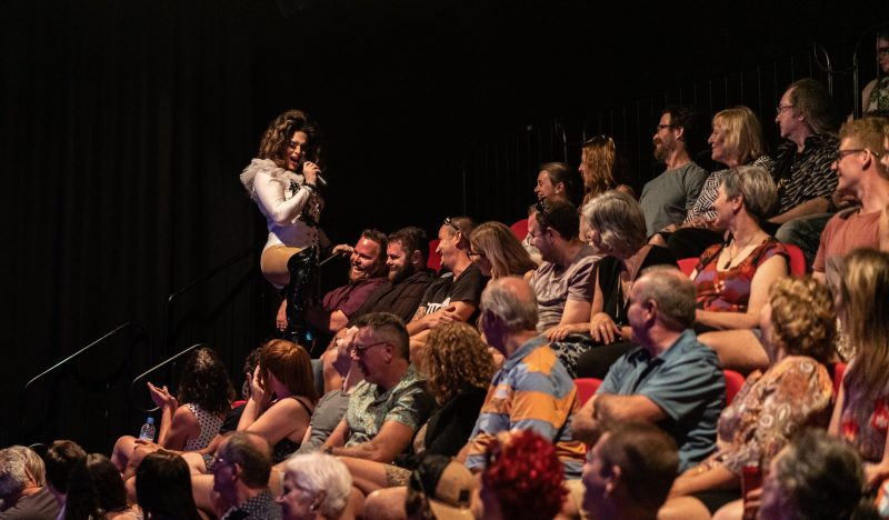 Vogue Mega Queen getting close with the crowd during Steam