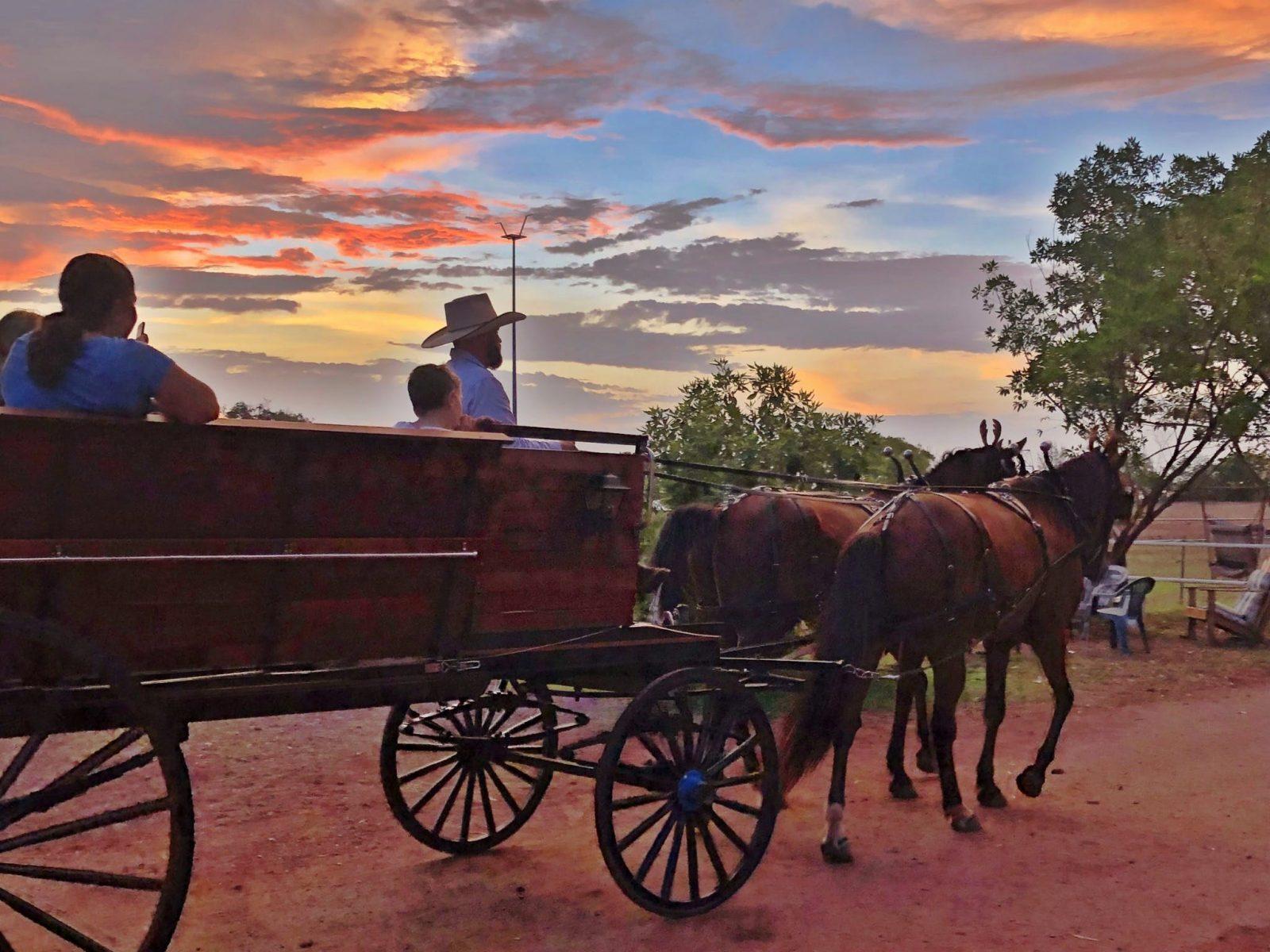 Darwin sightseeing at sunset