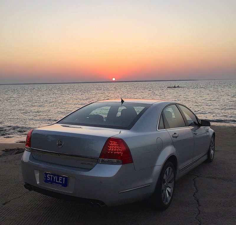 Holden Caprice at sunset