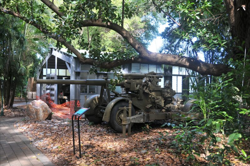 Large mobile gun in the foreground, the shed in the background was constructed recently to display more fragile items.