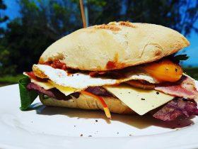 Our famous breakfast sandwich