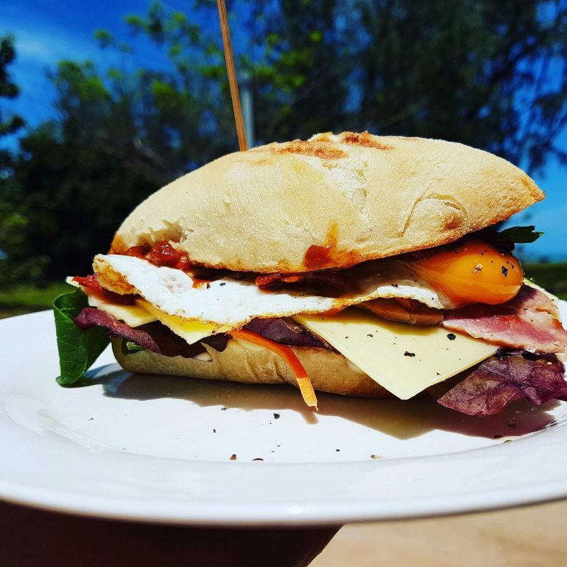 Our famous breakfast sandwich