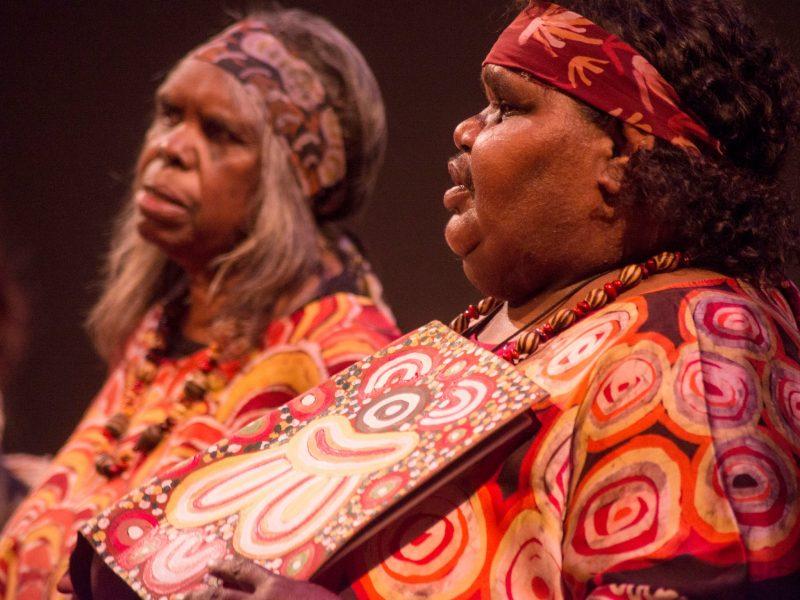 The Central Australian Aboriginal Women's Choir, performing at 'Desert Voice'
