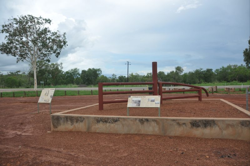 The Durack memorial outside of Timber Creek.