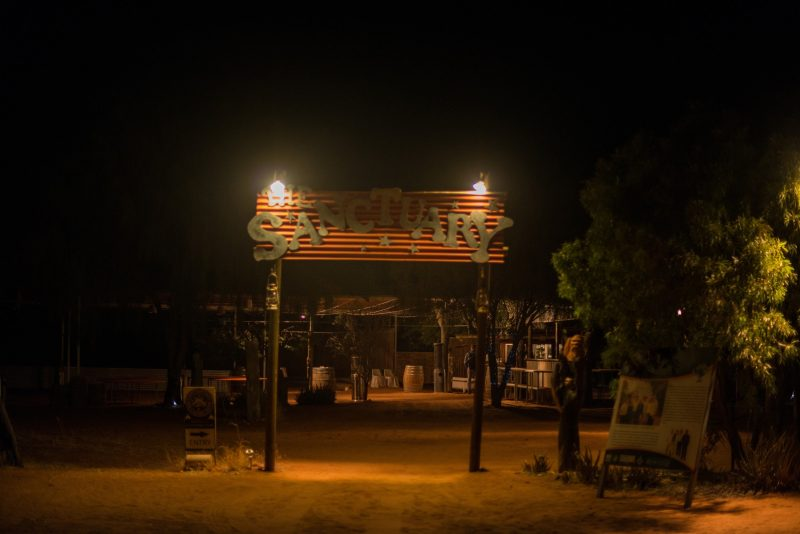 The Earth Sanctuary entrance, Alice Springs