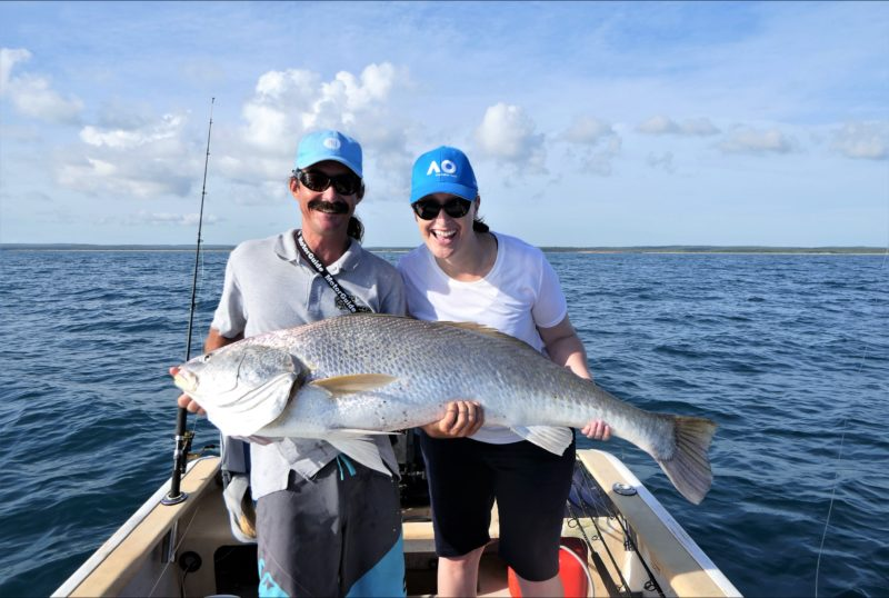 Carly's 137cm Black JewFish and a smile that we couldn't get rid of!