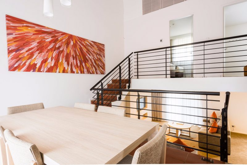 Apartment Dining at Emu Walk Apartments - 2 Bedroom
