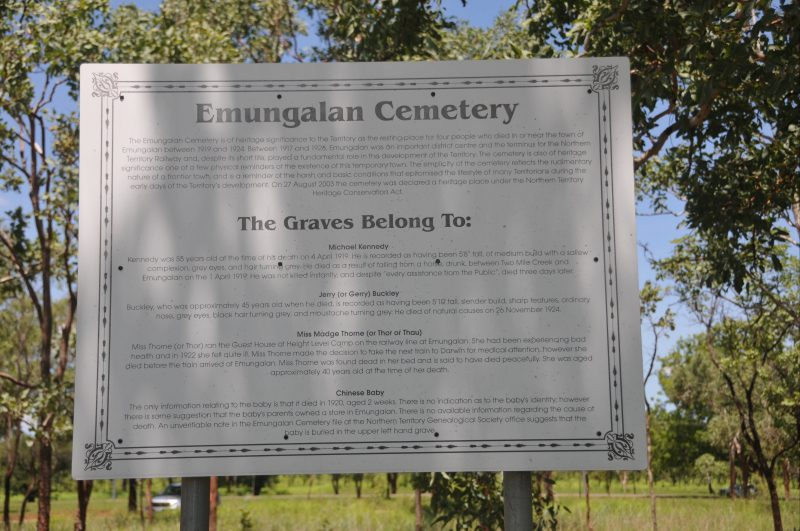 Interpretative signage at the site.