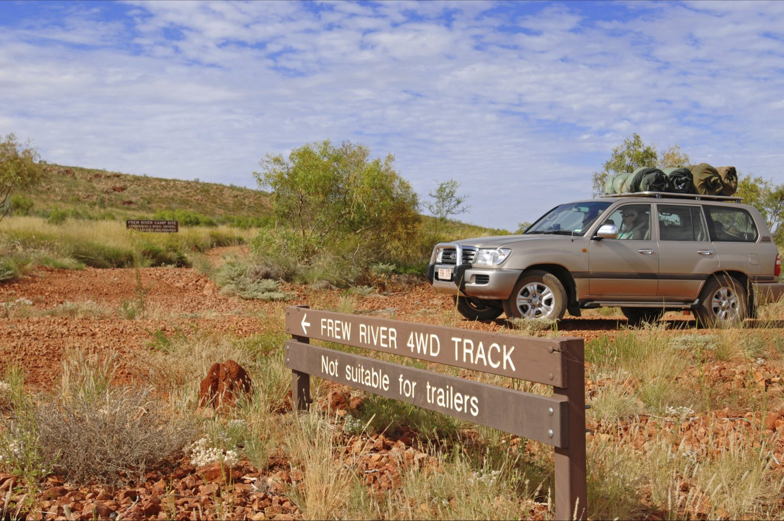 four wheel drive at Frew River in Davenport ranges