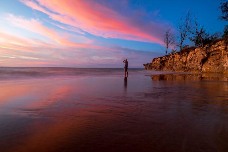 calm water at Casuarina Beach