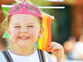 Rainbow crossing and facepainting and kids activities for the community of alice springs