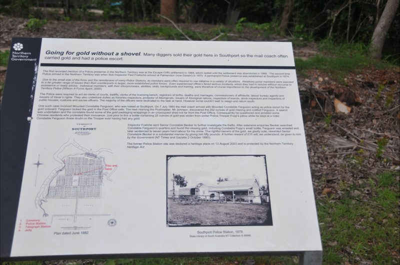 Telegraph Station site- Interpretative panel on Barrow Street.