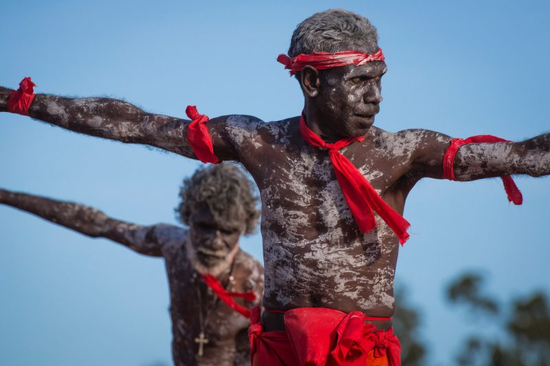 The afternoon bunggul is a major highlight, as the Yolngu clans perform traditional dance.