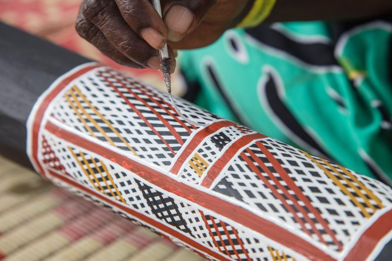 Art, craft and cultural workshops provide guests with insight into different aspects of Yolngu life