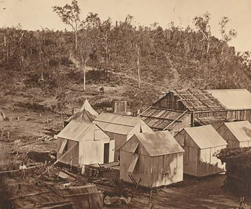 1870 - Goyder's Camp viewed from the now demolished Fort Hill