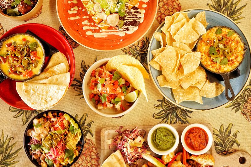 Range of Mexican dishes