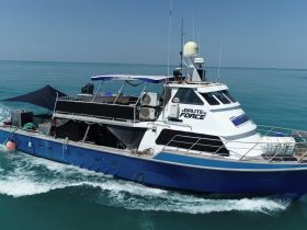 Humbug Fishing's Mothership Brute Force on route to another remote fishing adventure in Darwin