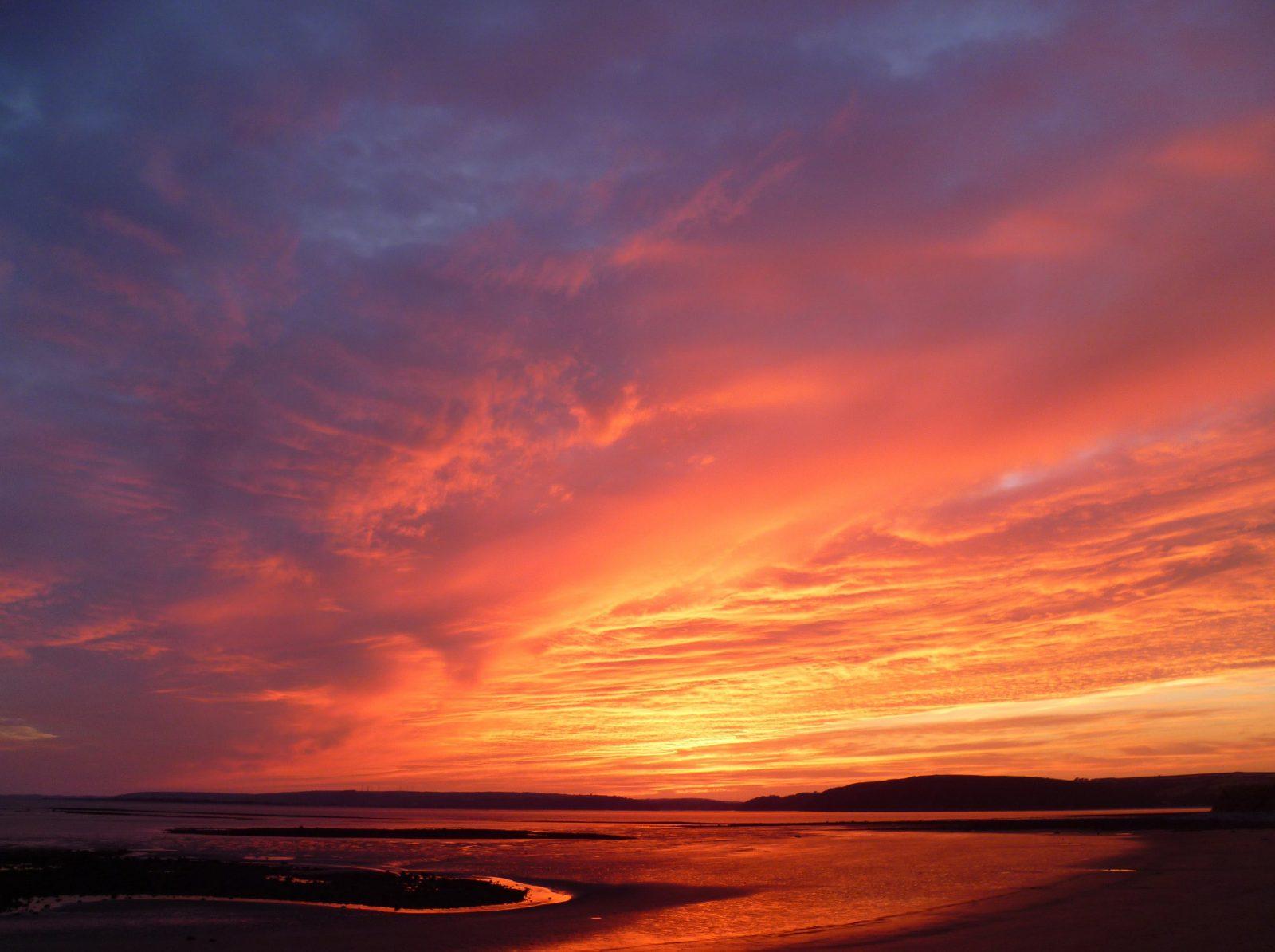 Beautiful Dry Season Sunset