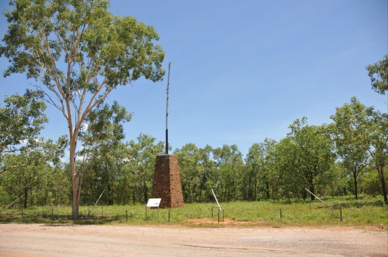 Pylon on the north bank of the Katherine River.