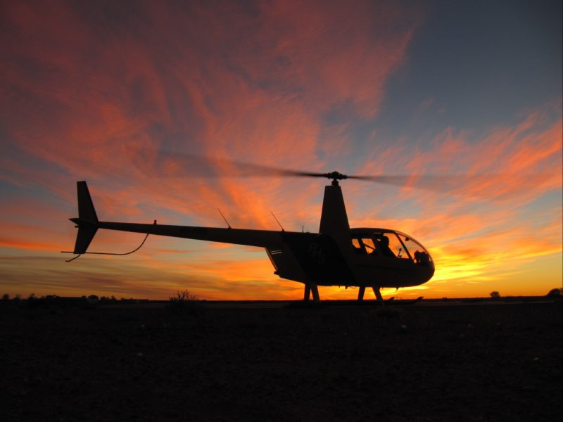 R44 Sunset Northern Territory Kings Canyon Tour