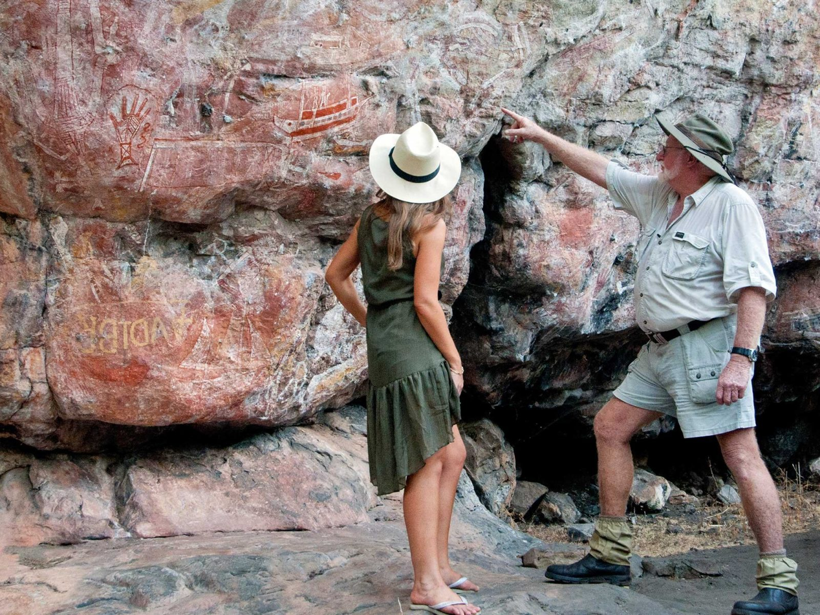 Exploring Rock Art at Mt Borradaile Davidsons