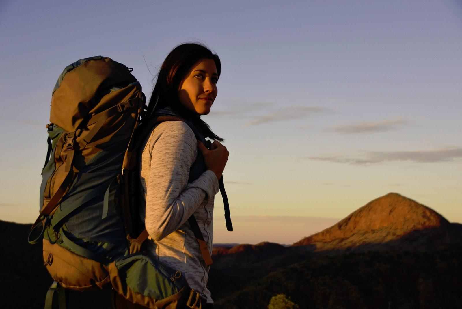 Solo Female Trekker on the Larapinta Trail