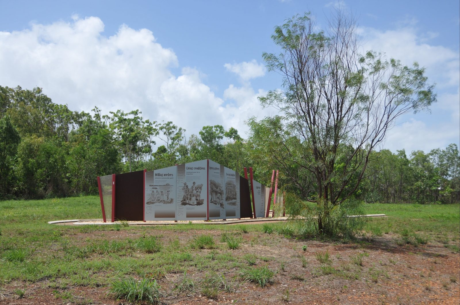 Memorial from Campion Road.
