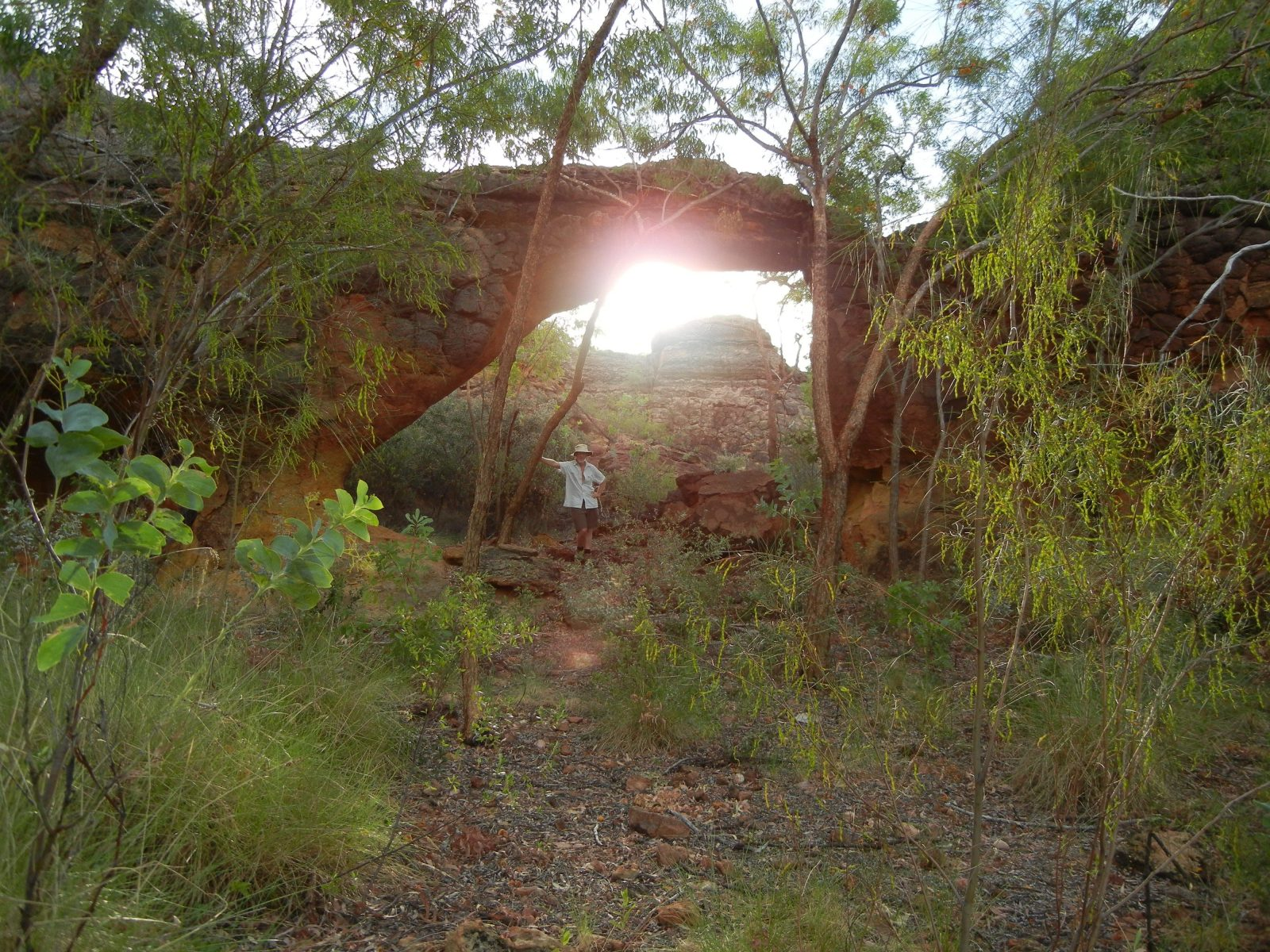 The Arch rock formation at Lorella Springs