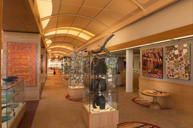 Enjoy a visit to Mulgara Gallery to see authentic Indigenous art.