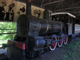 Carriage and working steam engine.