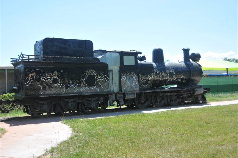 Steam locomotive associated with the site.