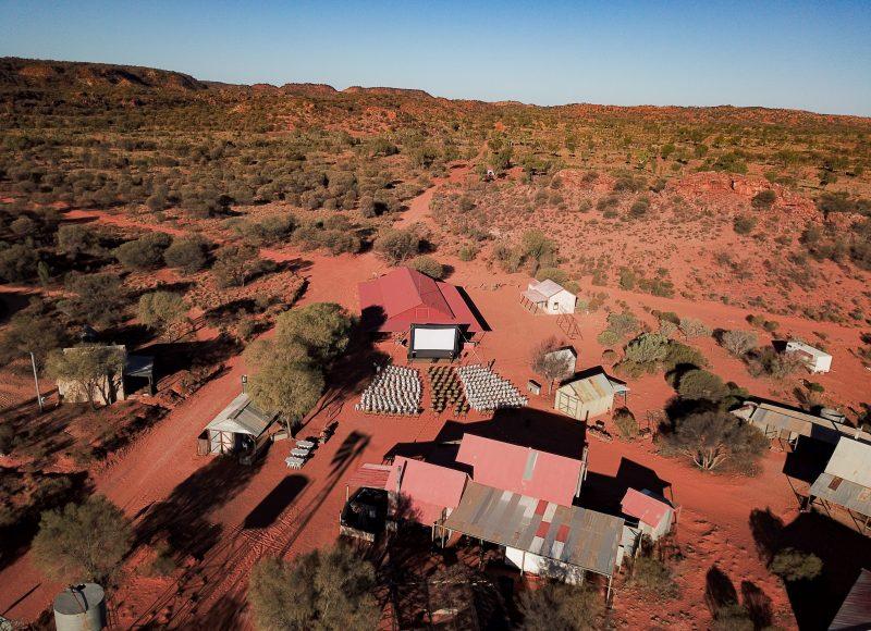 Cinema Screen in Outback setting