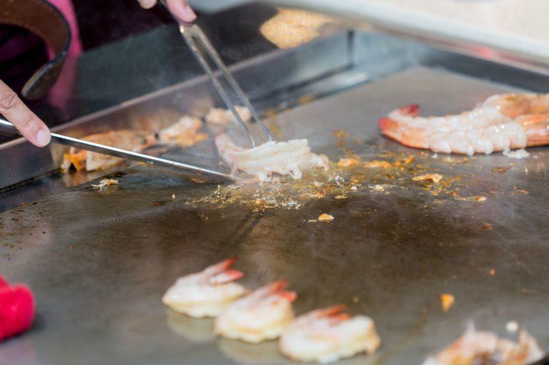Oka Teppanyaki cooking