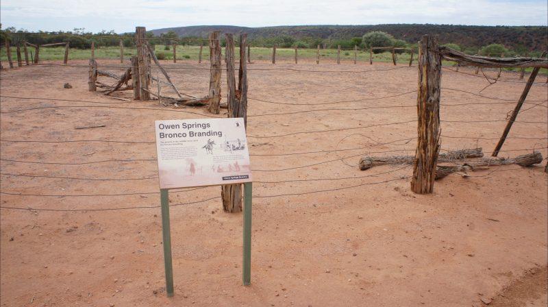Horse Branding Yards, with interpretive signage.