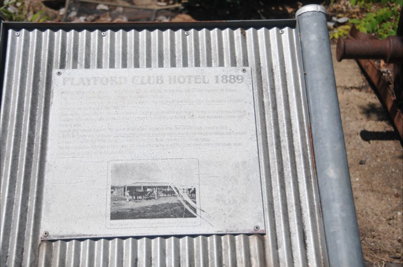 Playford Club Hotel interpretative panel.