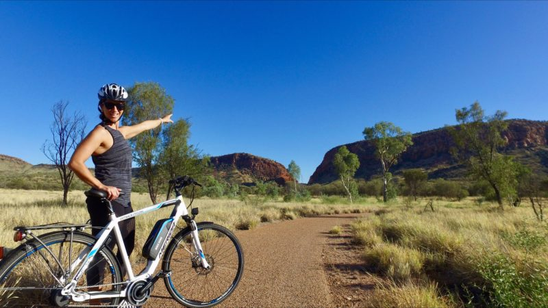 Outback Cycling Electric Bike Simpsons Gap Bicycle Path in Alice Springs