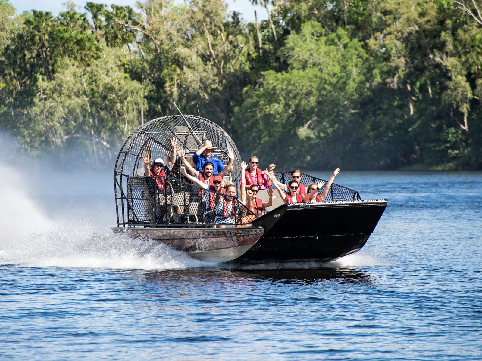 Prepare for an exhilarating airboat fast lap