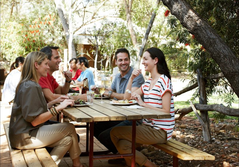 Taste Australia's pioneering past, as you enjoy a beer and some outback delights.