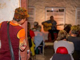 Performance at Old Gaol for Petatonic, Desert Song Festival, Alice Springs