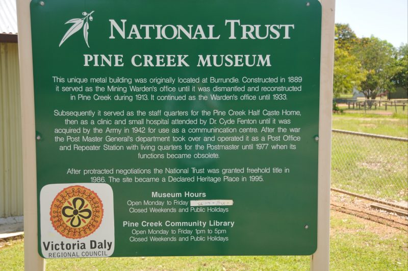 Identification signage for the Museum.