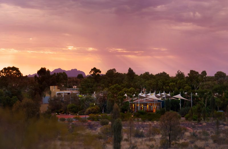 Sails in the Desert hotel beautifully contrasts Uluru's raw natural beauty