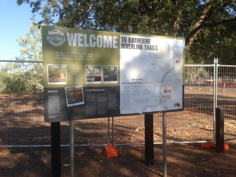 Katherine Riverlink Trail Sign
