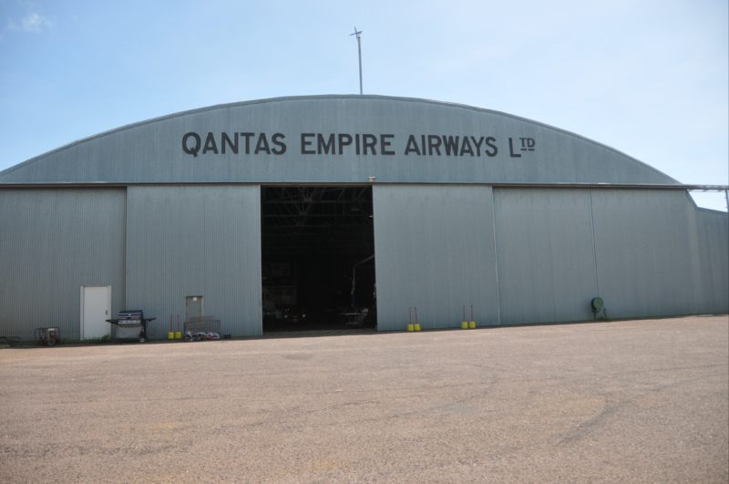 Qantas Empire Airways Hangar at Parap. Front façade with sliding