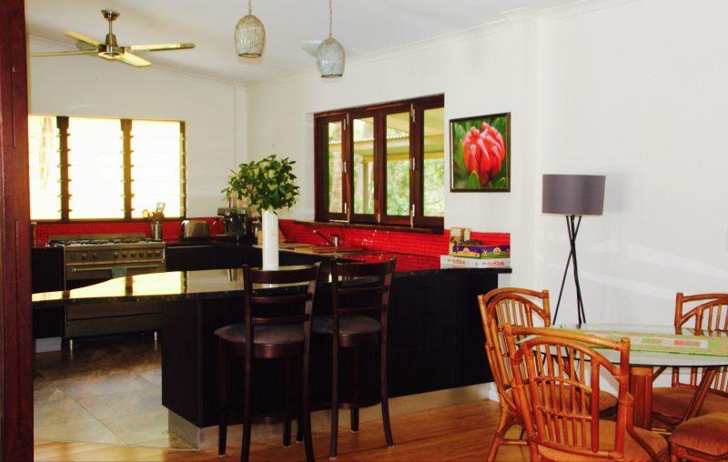 Rakhi Retreat eco accommodation gourmet kitchen self catering in nature get away in near Darwin, NT