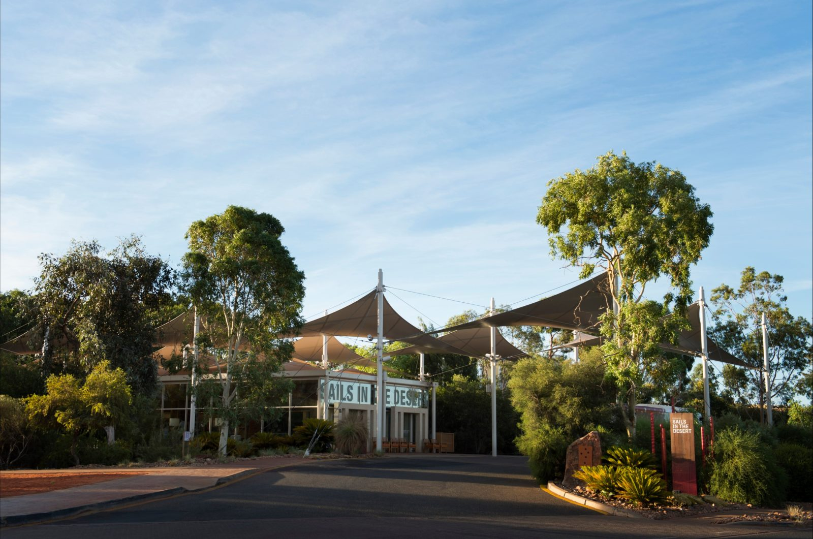 In the heart of Australia's Red Centre, Sails in the Desert offers a luxurious outback experience