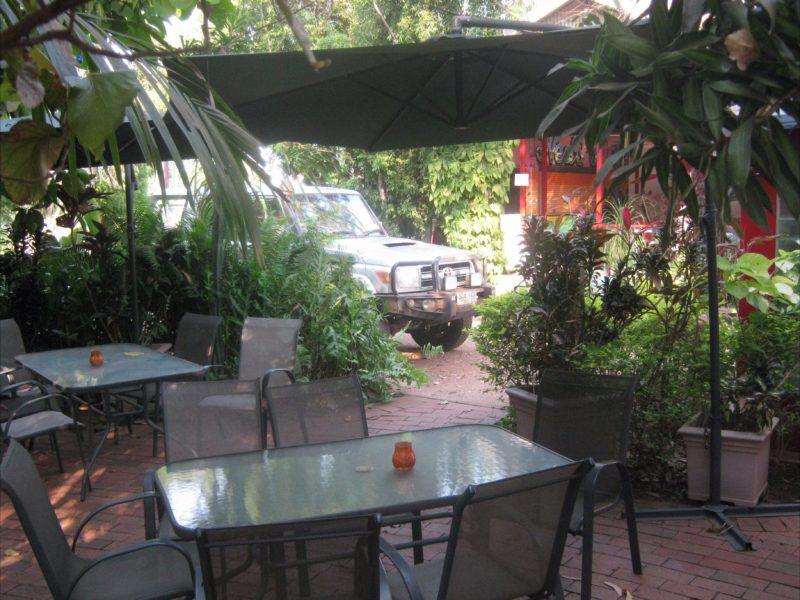 Alfresco restaurant area