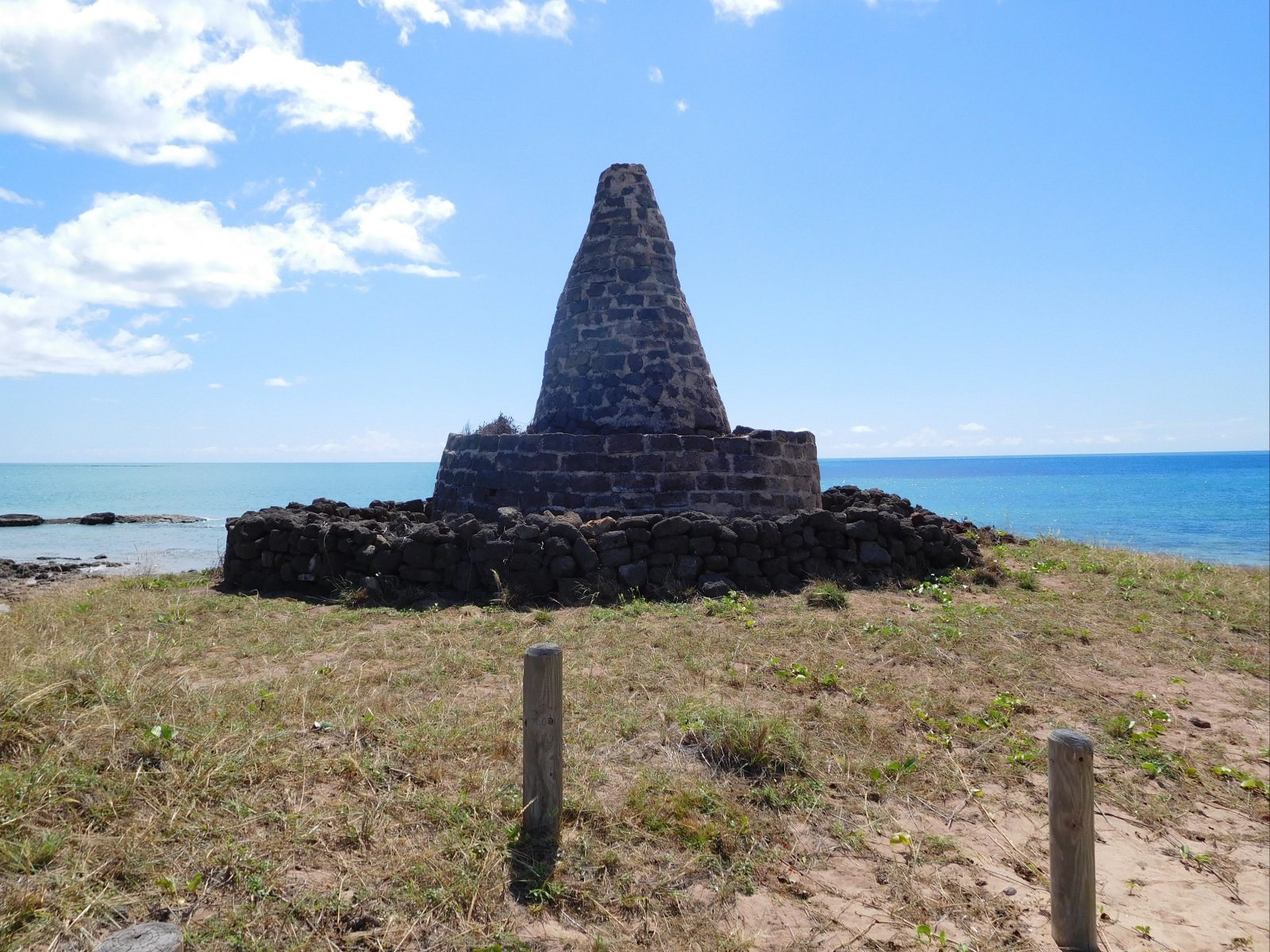 Smith Point Beacon (reconstructed 1978) – looking to sea.